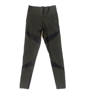 Adidas Climate Leggings Olive Green Mesh Small